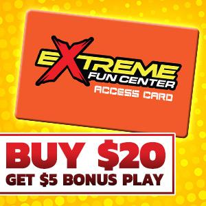Buy $20 Get $5 Bonus